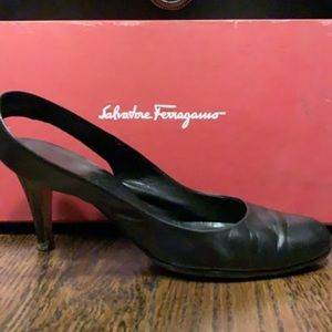 Ferragamo sling back pumps